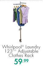 Whirlpool® Laundry 123™ Adjustable Clothes Rack  59.99