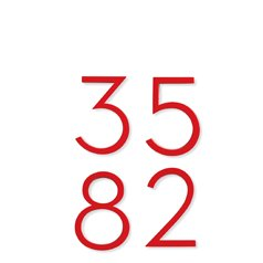 NEUTRA HOUSE NUMBERS SAVE 35%