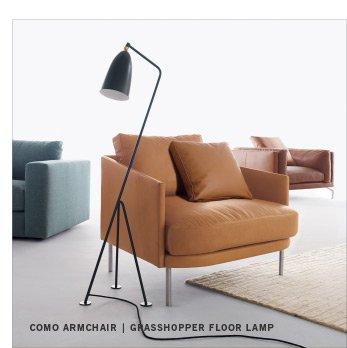 COMO ARMCHAIR | GRASSHOPPER FLOOR LAMP