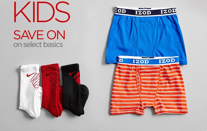 KIDS SAVE ON  on select basics