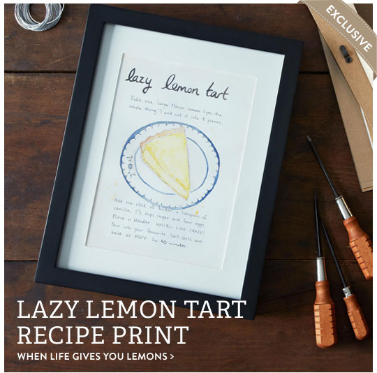 Lazy Lemon Tart Recipe