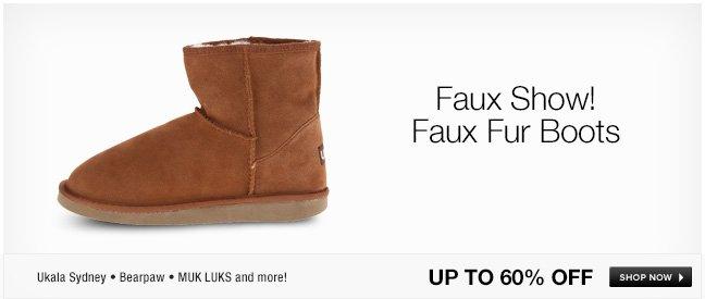 Faux Show! Faux Fur Boots