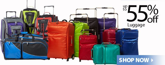 up to 55% off Luggage