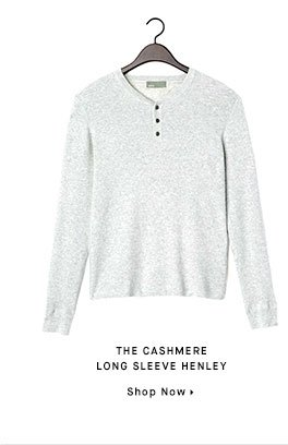 THE CASHMERE LONG SLEEVE HENLEY - Shop Now