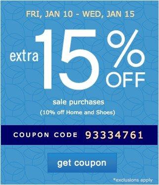 Extra 15% off. Get coupon.