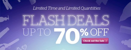 Flash Deals! Up to 70% off