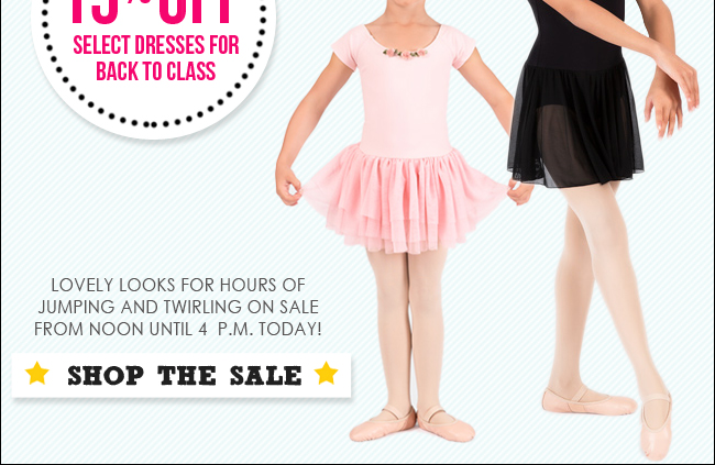 15% Off Select Dresses for Class