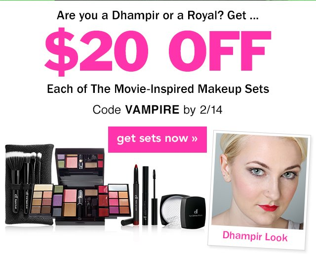 Are You A Dhampir or A Royal? Get $20 Off Code: VAMPIRE by 2/14 Get Sets Now!
