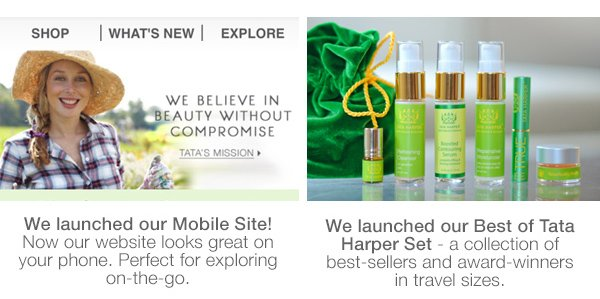 Meet the Best of Tata Harper, and our Mobile Site!