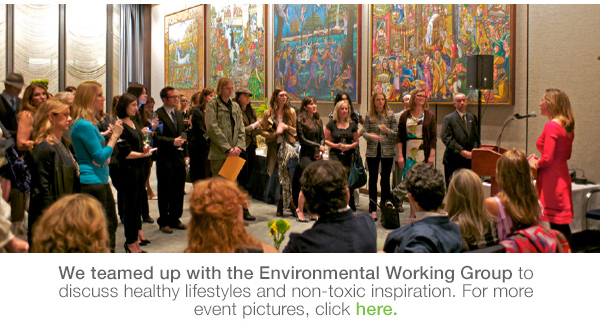 We teamed up with the EWG for a nontoxic lifestyle event!