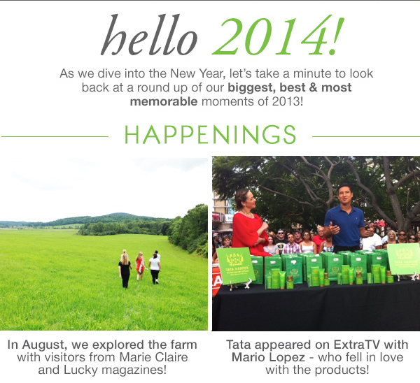 Hello 2014! Let's look back at news from 2013...