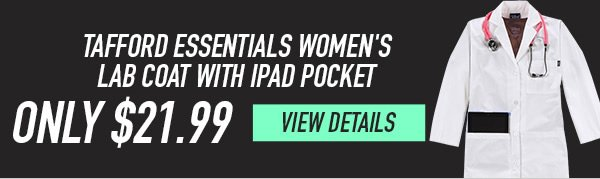 Tafford Essentials Women's Lab Coat with iPad Pocket - View Details