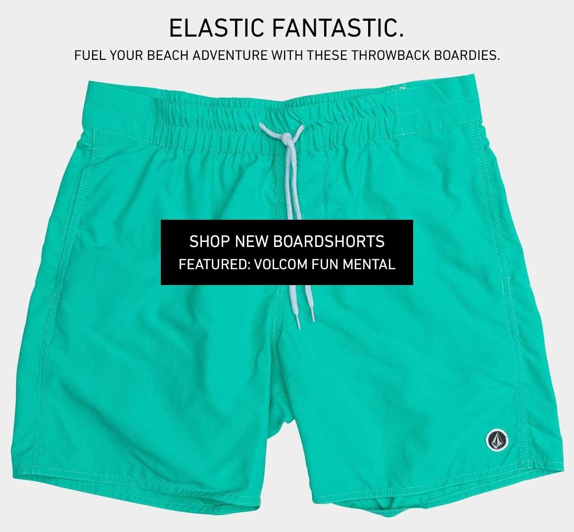 Elastic Fantastic: Shop New Throwback Boardshorts