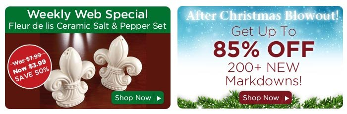 Weekly Web Special & After Christmas Blowout