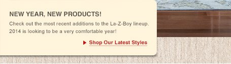 New Year, New Products! Check out the most recent additions to the La-Z-Boy lineup. 2014 is looking to be a very comfortable year!