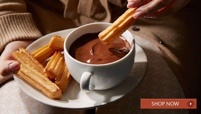 Churros and Chocolate a la Taza