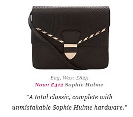 Bag, Was: £825 Now: £412 Sophie Hulme - A total classic, complete with unmistakable Sophie Hulme hardware.
