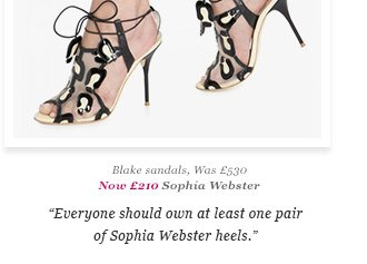 Blake sandals, Was £530 Now £210 Sophia Webster - Everyone should own at least one pair of Sophia Webster heels.