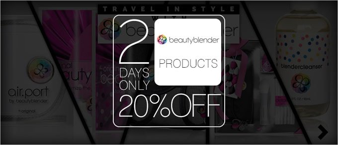 2 Days Only - 20% Off Beautyblender Products