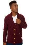 The Mindoro Shawl Cardigan in Wine
