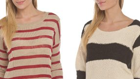 Sweaters, tops, and lounge pants