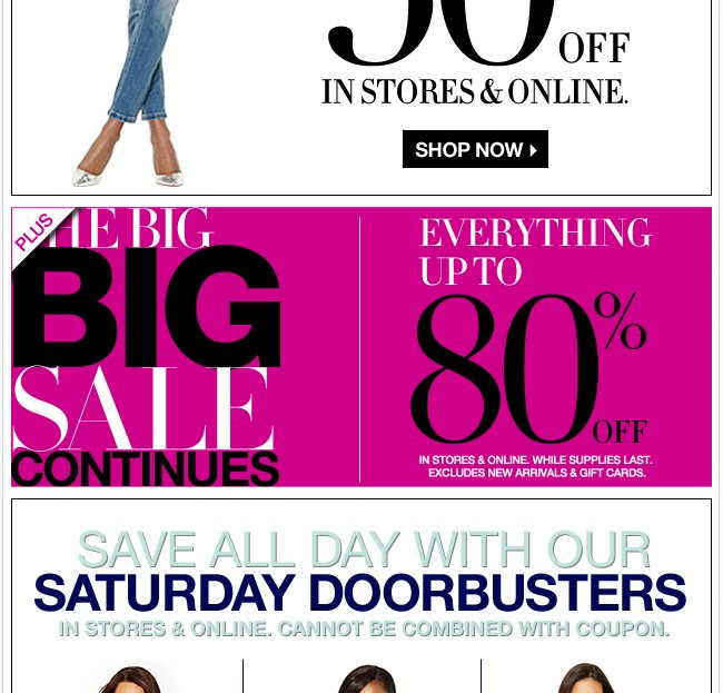 Plus, the Big Sale Continues!  Up to 80% off!