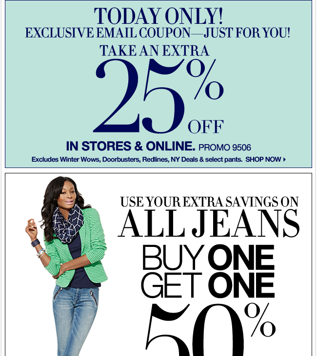All Jeans are B1G1 50% off