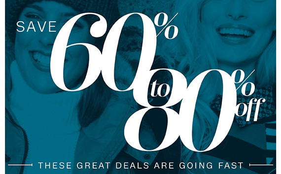 Save Big on What You Want Right Now. Save 60% to 80% off. These Great Deals are Going Fast