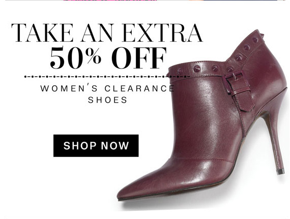 Take an extra 50% Off. Women's clearance Shoes. Shop Now