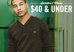 Shop New Wovens & Sweaters: $40 & Under