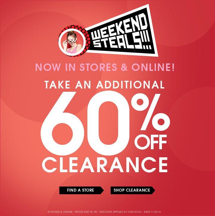 Weekend Steals Now In Stores & Online!