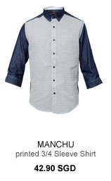 Manchu Printed 3/4 Sleeve Shirt