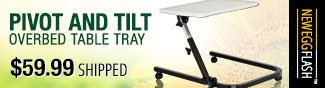 Pivot and Tilt overbed table tray 59.99 usd shipped