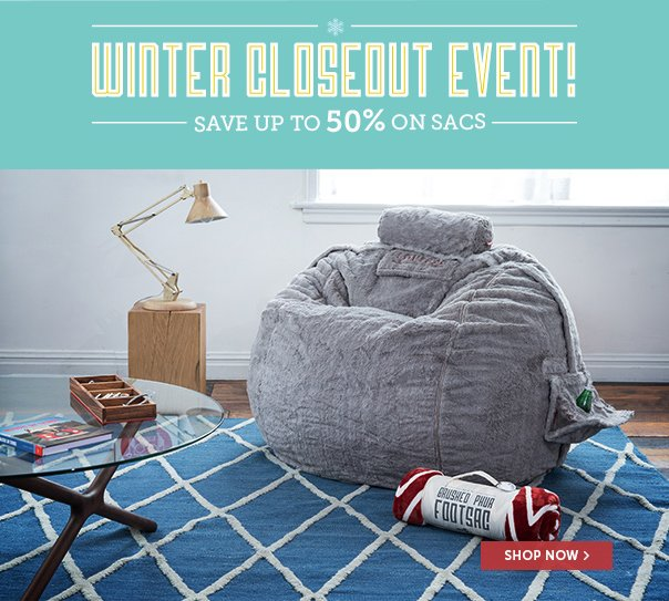 Winter Closeout Event - Save Up to 50% On Sacs!