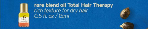 rare  belnd oil Total Hair Therapy rich texture for dry hair