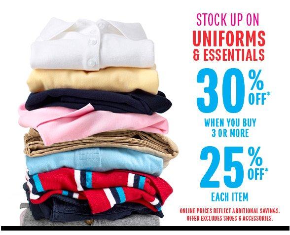 30% Off Uniforms!
