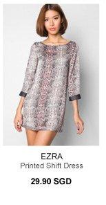 EZRA Printed Shift Dress