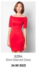 EZRA Fitted Short Sleeved Dress