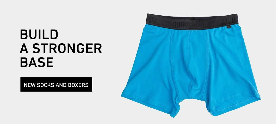Build A Stronger Base: Shop New Boxers and Socks