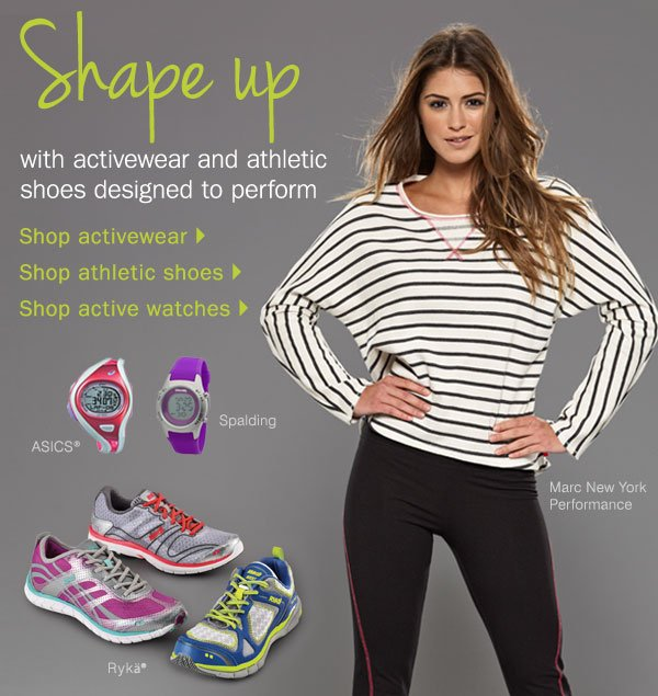 Shape up with activewear and athletic shoes designed to perform. Shop activewear - Shop athletic shoes - Shop active watches