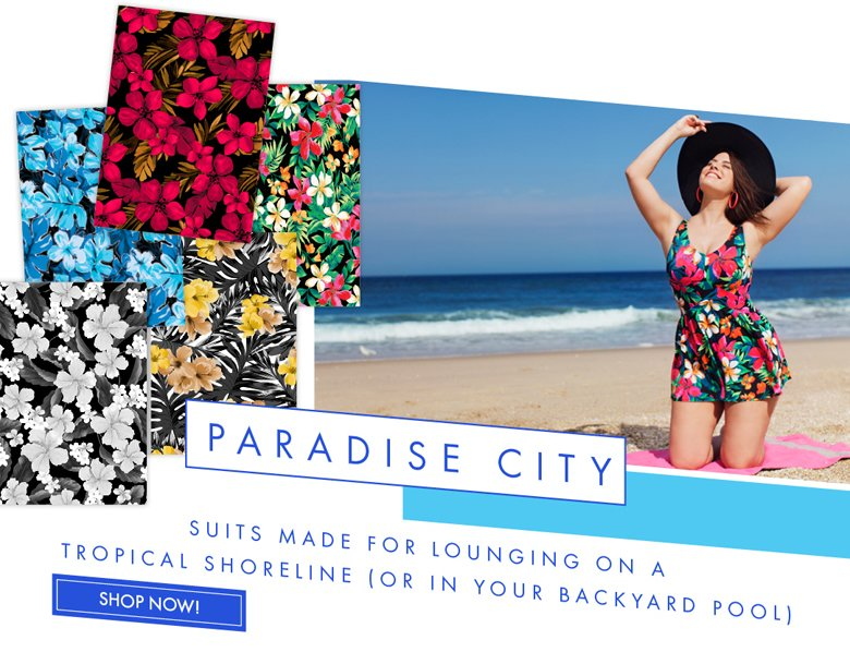 Paradise City - suits made for Lounging on a tropical Shoreline (or in your Backyard Pool)