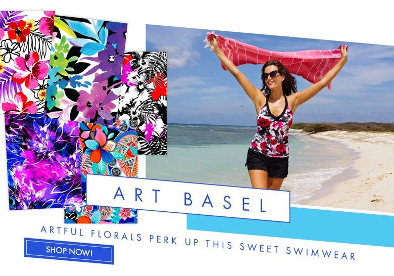 Art Basel - Artful Floral Perk up this Sweet Swimwear