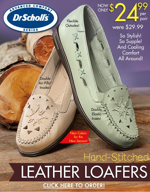 Leather Loafers $24.99