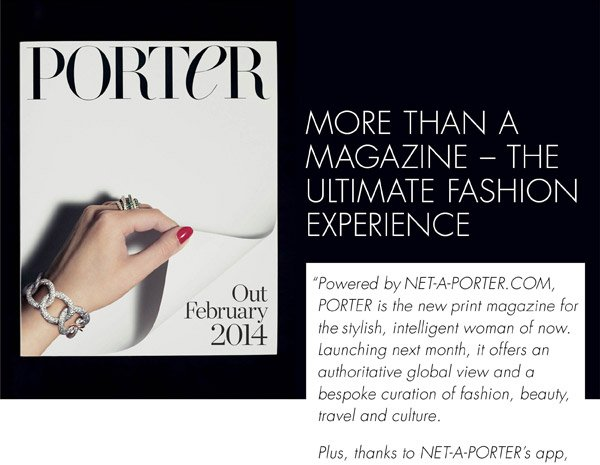 INTRODUCING PORTER - A MESSAGE FROM NET-A-PORTER.COM
