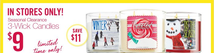 Select 3-Wick Candles – $9