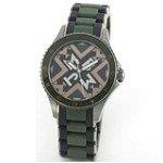 Marc by Marc Jacobs MBM8600 Women's Black & Grey Dial Rubber & Steel Bracelet Watch