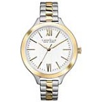 Caravelle 45L139 Mens New York Silver-White Dial Two Tone Steel Bracelet Watch