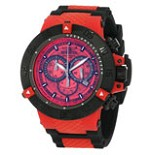 Invicta 0938 Men's Subaqua NOMA Black Ion Plated Red Plastic Chronograph Dive Watch
