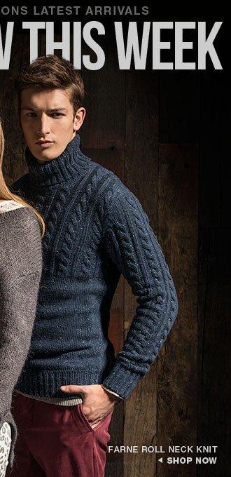 farne roll neck knit