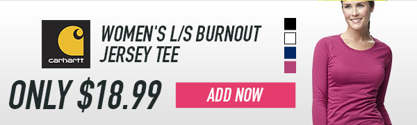 Carhartt Women's L/S Burnout Jersey Tee - Add Now